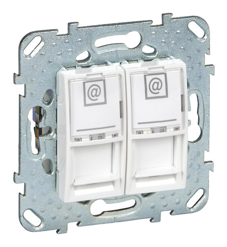 Розетка 2xRJ45 Cat.6 Schneider Electric UNICA, белый